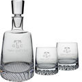 FINLAND DECANTER (ETCH) & 2 OLD FASHION