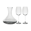 SALOMA CARAFE (ETCHED) & 2 WINE GLASSES