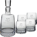 FINLAND DECANTER (ETCH) & 4 OLD FASHION